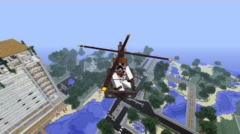 Minecraft 1.4.7 THX Helicopter Mod - Helicopter in Minecraft