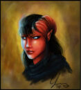 Ophelia the Tiefling Fighter by candypalmer.jpg