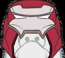Le casque de Silver Centuron