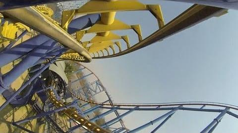 Batman The Ride Roller Coaster POV Six Flags Mexico Vekoma SLC On-Ride-0