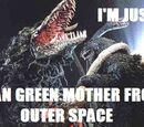 Kung fu frogz/Godzilla meme