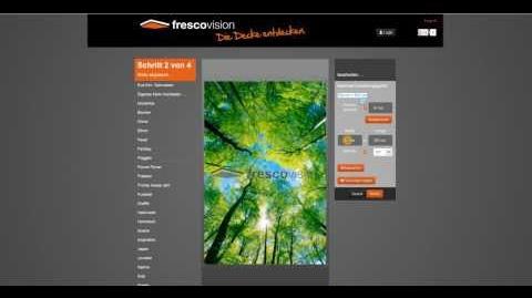 Arbeitsweise des frescovision Deckenbild Konfigurators