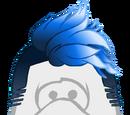 Peinado Azul Shokeante