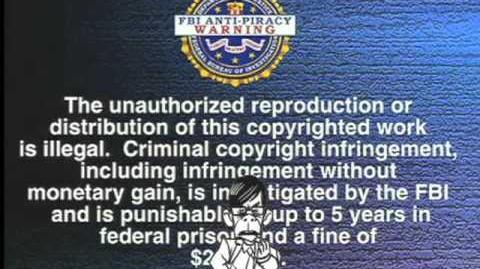 The Incredibles on Blu-ray FBI WARNING with Gilbert Huph