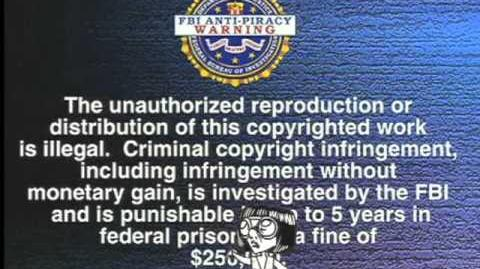 The Incredibles on Blu-ray FBI WARNING with Edna