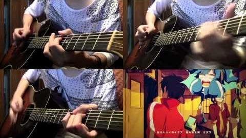 "IA - ""Summertime Record"" on guitars by Osamuraisan 「サマータイムレコード」アコギでロック"