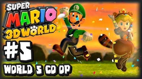 Super Mario 3D World Wii U - (1080p) Co-Op Part 5 - World 5