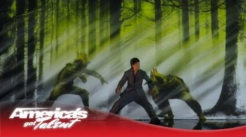 ImhotepBallZ/Kenichi Ebina - Robotic Dancer Becomes a Live Video Game Character - America's Got Talent 2013