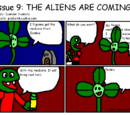 Issue 9: (We think) THE ALIENS ARE COMING!