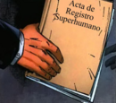 Acta de Registro Superhumano