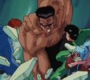 Yusuke Urameshi y Kazuma Kuwabara vs Hermanos Toguro