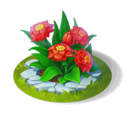 Scarlet Flower Bed