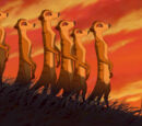 List of species seen in The Lion King