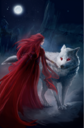 Melisandre and Ghost by Eva Maria Toker©.png