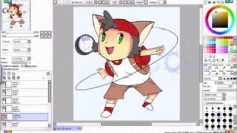 ~!Speed painting Yoyo Kid OC (cell shade)!~