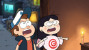 S1e12 Dipper and Candy aghast at Summerween Trickster.png