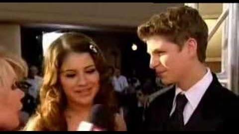 Michael Cera and Alia Shawkat at the 2005 Golden Globes