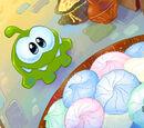 Peashooter and sunflower/Here Om Nom have some candy:i love Om Nom!!!!!