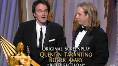 Quentin Tarantino and Roger Avary winning Best Original Screenplay