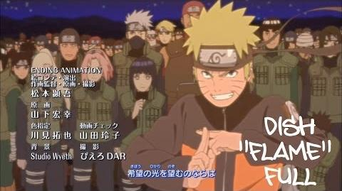 Naruto Shippuden Ending 29 (Official FULL version) HD (With Lyrics) Flame - Dish DOWNLOAD-1