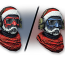 Aggressive Christmas Helmet