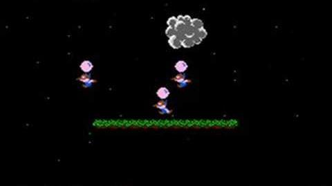 NES Balloon Fight - Under the Sea Glitch