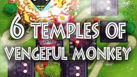 6 Temples of Vengeful Monkey on One map and One game of Bloons Monkey City
