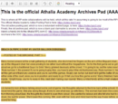 Athalia Academy Archive Pad