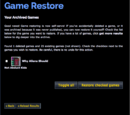 Game Restore