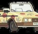 Vehículo de Pizzas de Pescado