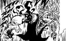 Meliodas using demonic power to re-attach his hand.png