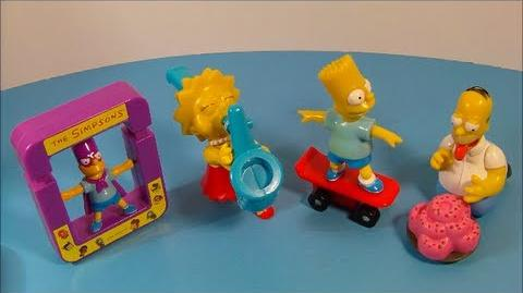 1997 THE SIMPSONS SET OF 4 SUBWAY KID'S PAK TOY'S VIDEO REVIEW