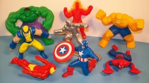 2010 MARVEL HEROES SET OF 8 McDONALD'S HAPPY MEAL TOY'S VIDEO REVIEW