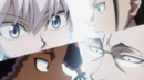 Killua, Amane, Gotoh and Canary surprised.png