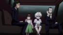 Amane and Gotoh escorting out Killua and Alluka.png
