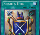 Knight's Title