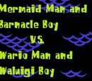 Mermaid Man and Barnacle Boy vs. Wario Man and Waluigi Boy (SpongeBob & Super Mario Crossover)