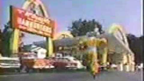 First McDonald's TV Ad Ever with Willard Scott as Ronald McDonald