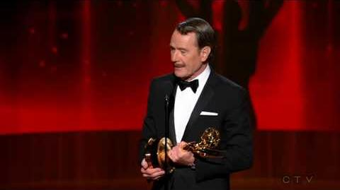 The Emmys 2014- Bryan Cranston wins 2014 Emmy for Outstanding Lead Actor - Drama