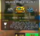 Golden Miner Helmet