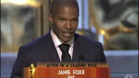 Jamie Foxx Wins Best Actor 2005 Oscars
