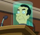 Cabeça de Richard Nixon