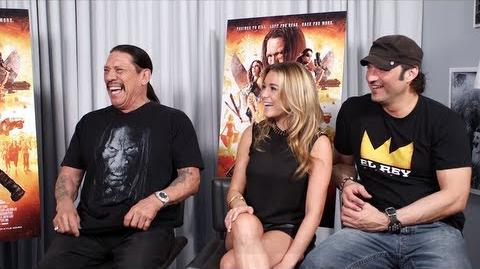 MACHETE KILLS Interview Robert Rodriguez, Danny Trejo and Alexa Vega