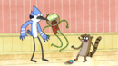 S6E04.185 Ghost Benson Scaring Mordecai and Rigby.png