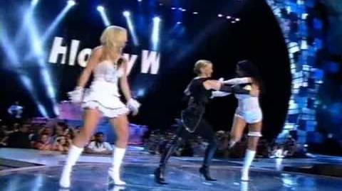 Britney Spears Madonna Christina Aguilera - Like a virgen-Hollywood (Live VMA 2003)