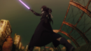 Kirito deflecting Sinon's bullet.png