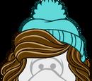 Gorro Azul con Peluca