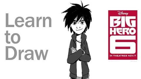 Learn to Draw Hiro Hamada from Big Hero 6 Disney Insider-1
