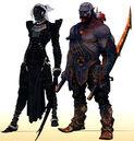 Qunari female and male.jpg