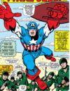 Steve Rogers (Earth-616) Captain America crashed NATO headquarters in Europe from Tales of Suspense Vol 1 74.jpg